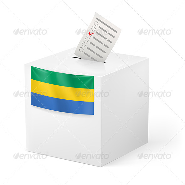GraphicRiver Ballot box with voting paper Gabonese Republic 7396316
