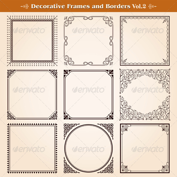 GraphicRiver Decorative Frames And Borders Set 7396355