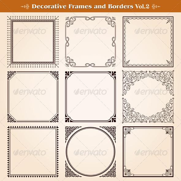 GraphicRiver Decorative Frames And Borders Set 7396355