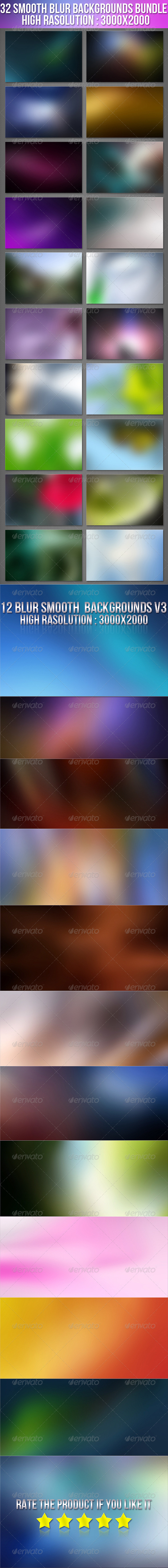 GraphicRiver 32 Smooth Blur Background Bundle 7396359
