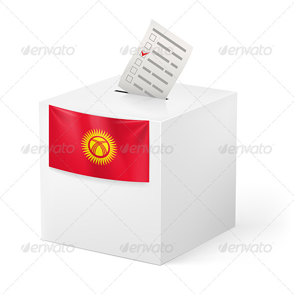 GraphicRiver Ballot Box with Voting Paper Kyrgyzstan 7396562
