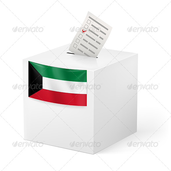 GraphicRiver Ballot Box with Voting Paper Kuwait 7396563