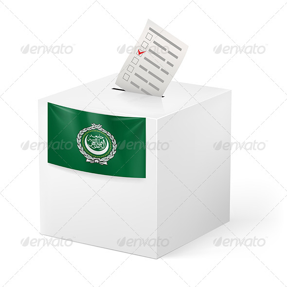 GraphicRiver Ballot Box with Voting Paper Arab League 7396564