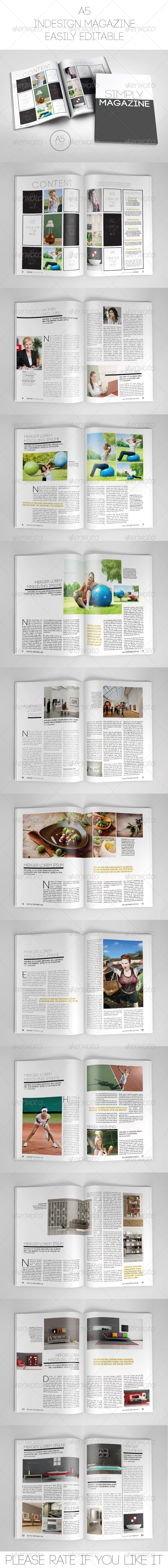 GraphicRiver A5 Magazine Template Portrait 7396655