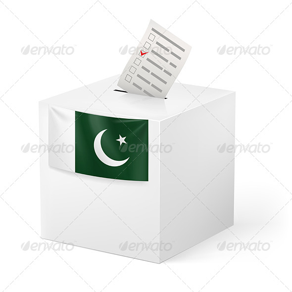 GraphicRiver Ballot Box with Voting Paper Pakistan 7396747