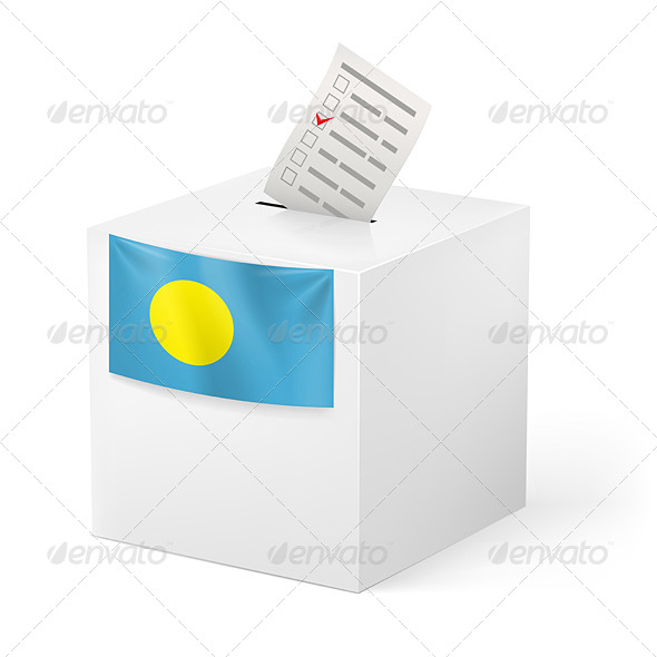 GraphicRiver Ballot Box with Voting Paper Palau 7396748