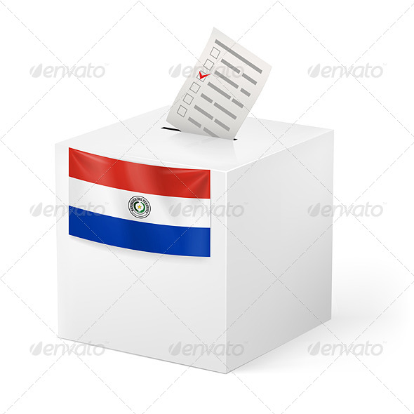 GraphicRiver Ballot Box with Voting Paper Paraguay 7396758