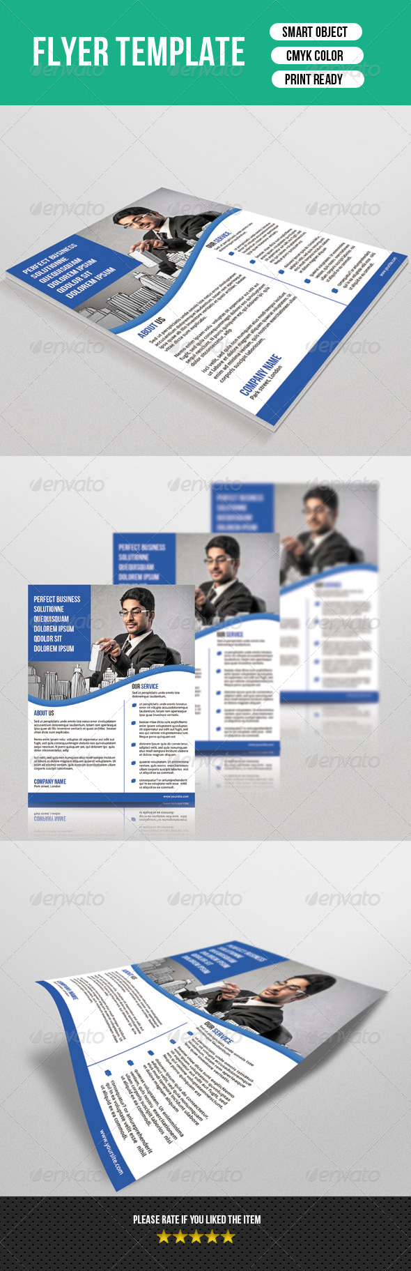 GraphicRiver Corporate Flyer Template 7396837