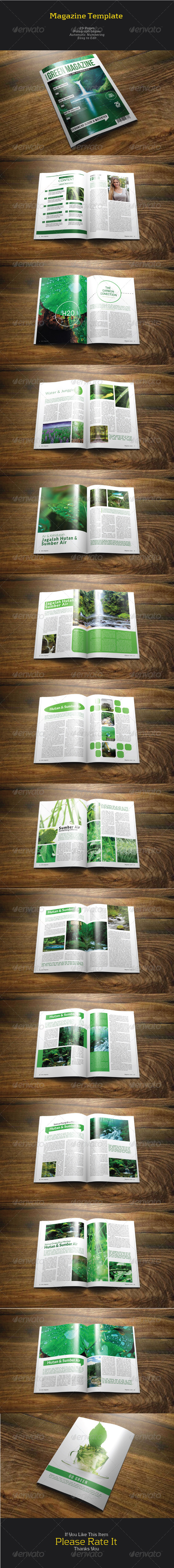 GraphicRiver Green Magazine 7396977