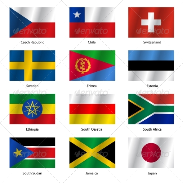 GraphicRiver Set Flags of World Sovereign States Vector 7397003