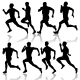 Set of Silhouettes. Runners on Sprint, Men - GraphicRiver Item for Sale