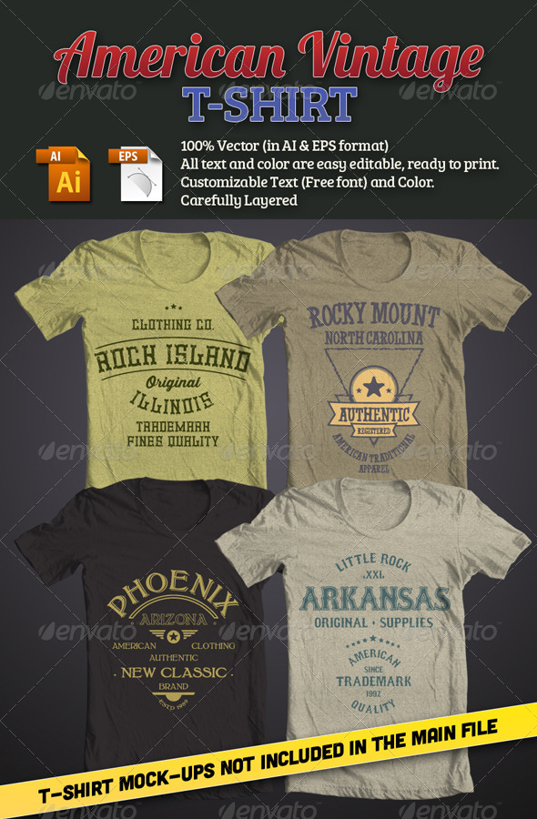GraphicRiver American Vintage T-Shirt 7397110