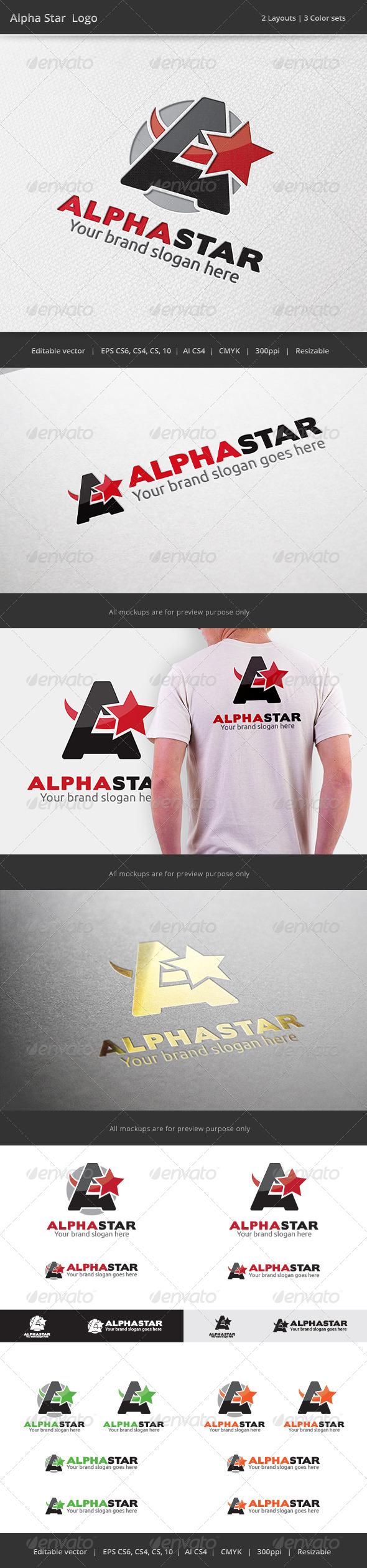 GraphicRiver Alpha Star A Letter Logo V2 7397132
