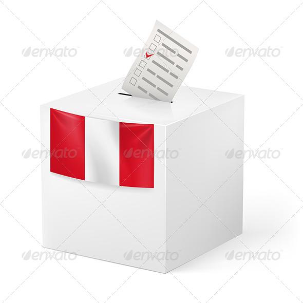 GraphicRiver Ballot Box with Voting Paper Peru 7397353