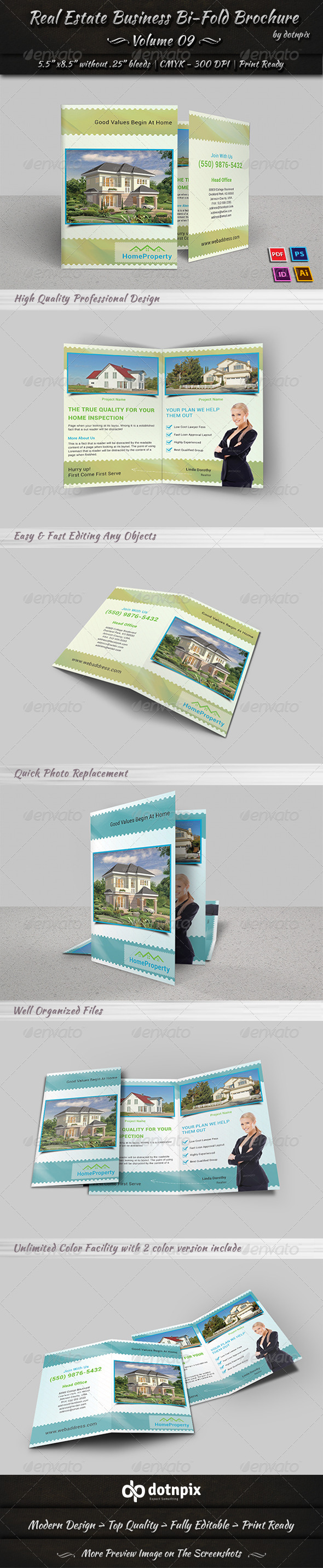 GraphicRiver Real Estate Bi-Fold Brochure Volume 9 7397361