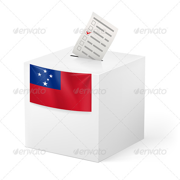 GraphicRiver Ballot Box with Voting Paper Samoa 7397362