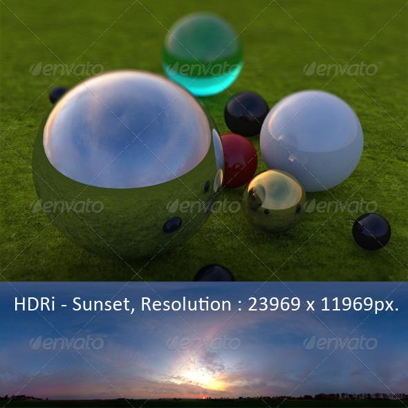 3DOcean HDRi Pro Sunset 7397396