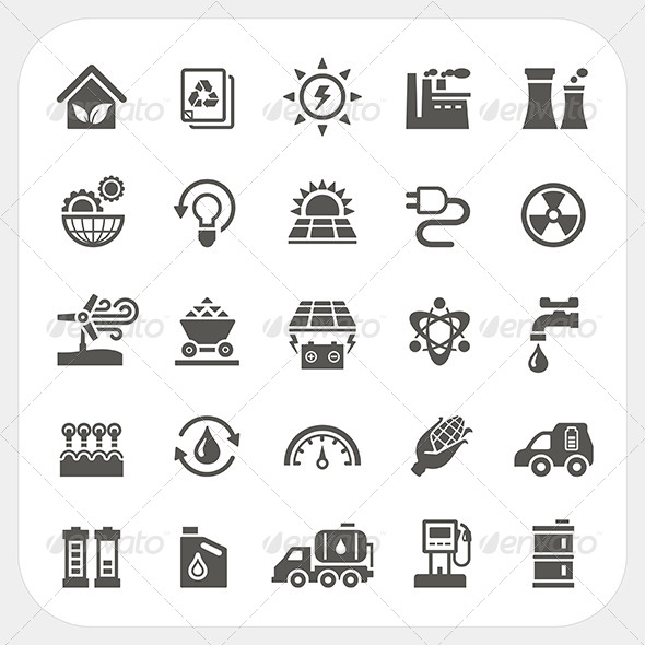 GraphicRiver Energy and Power Icons Set 7397425