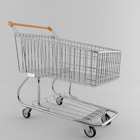 3DOcean Supermarket trolley 7397426