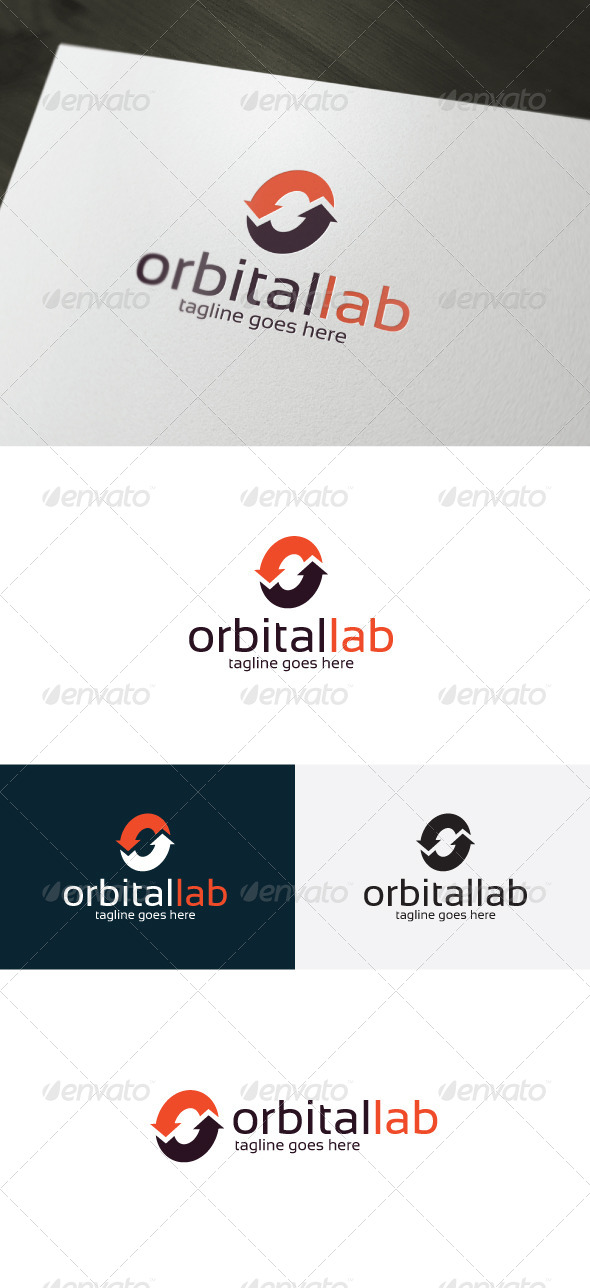 GraphicRiver Orbital Lab Logo Letter O 7398077
