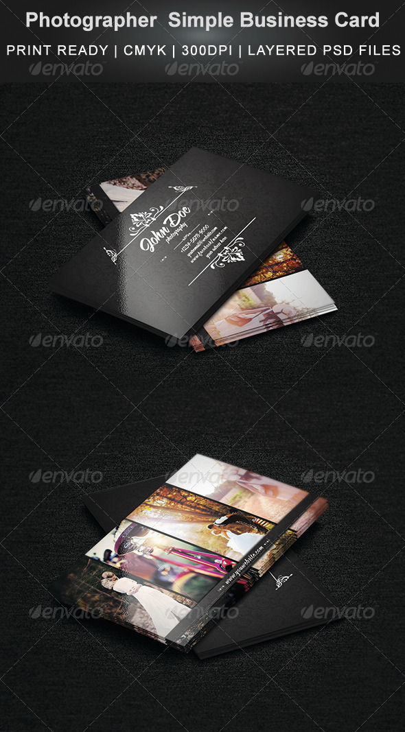 GraphicRiver Photographer Business Card 7398275