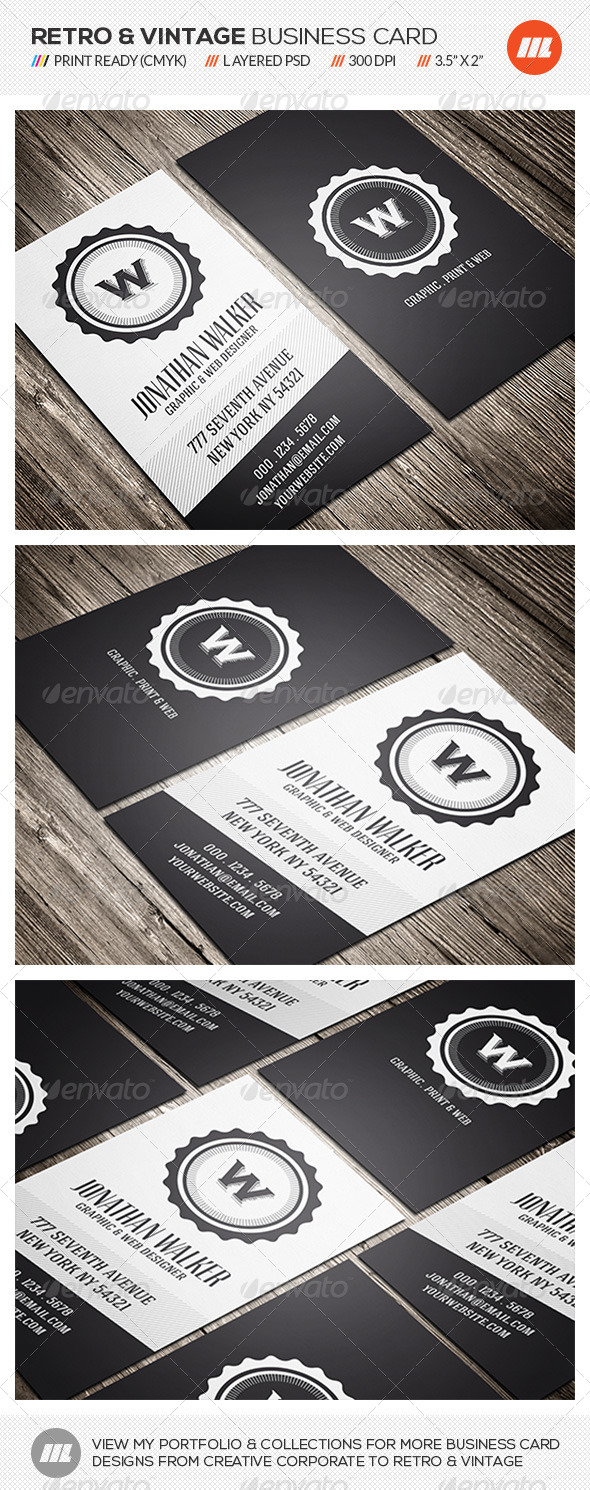 GraphicRiver Creative Retro Business Card 7398299