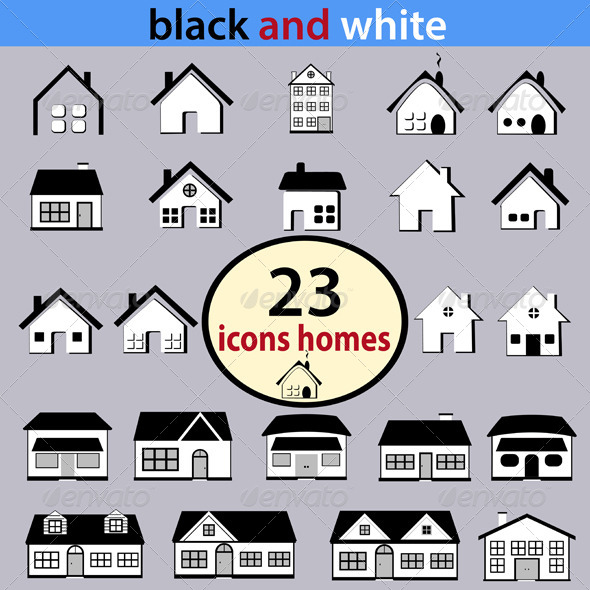 GraphicRiver Black and White Houses 7399667