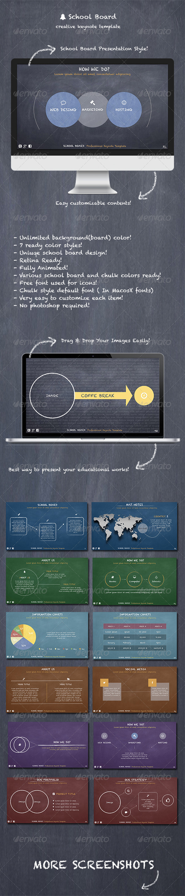 GraphicRiver School Board Keynote Template 7358160