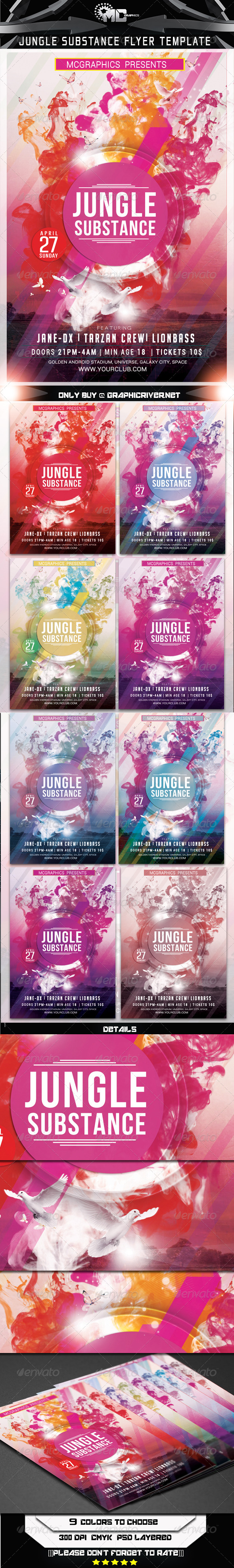 GraphicRiver Jungle Substance Flyer Template 7333832