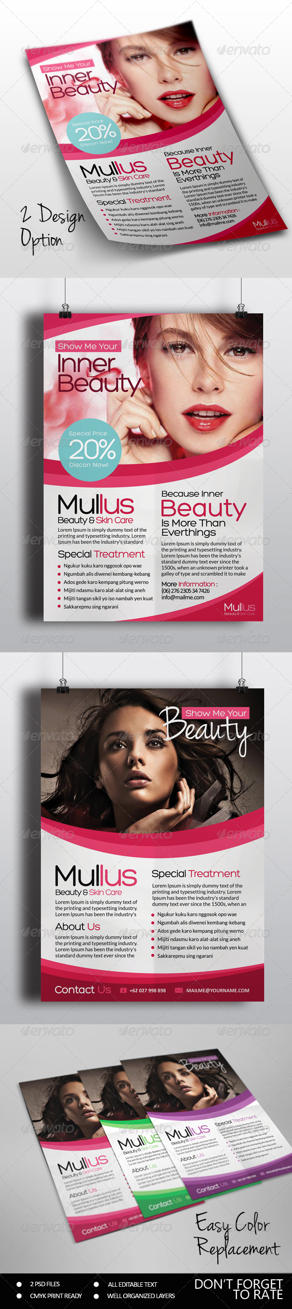 GraphicRiver Beauty Care Flyer 7400173
