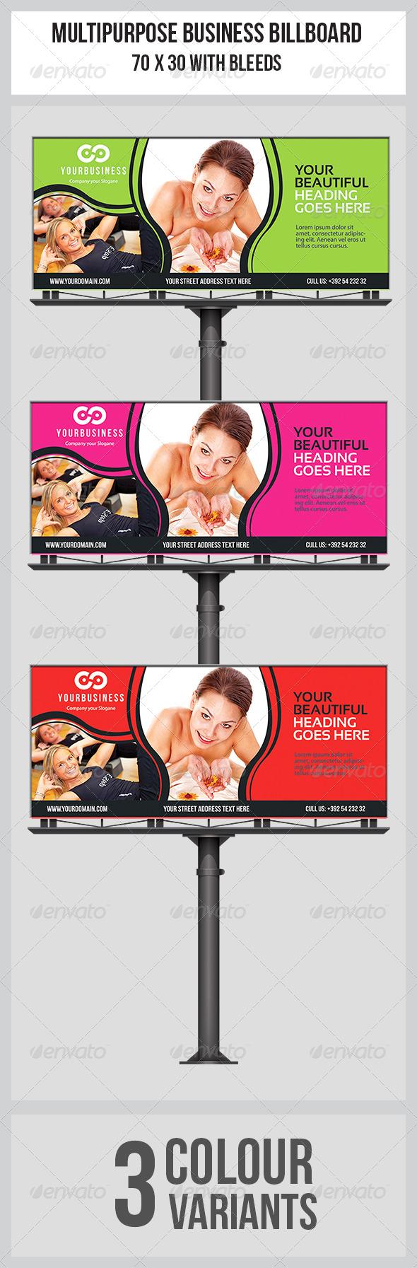 GraphicRiver Multipurpose Business Billboard Template 7142955