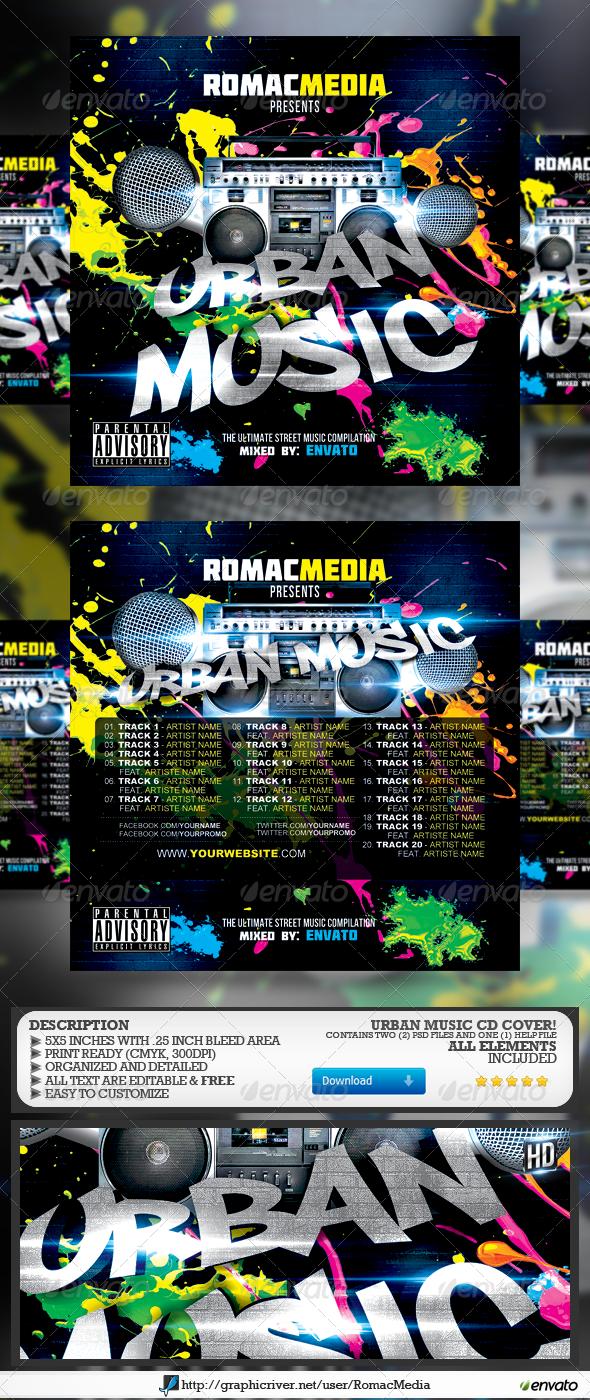 GraphicRiver Urban Music CD Cover 7400989