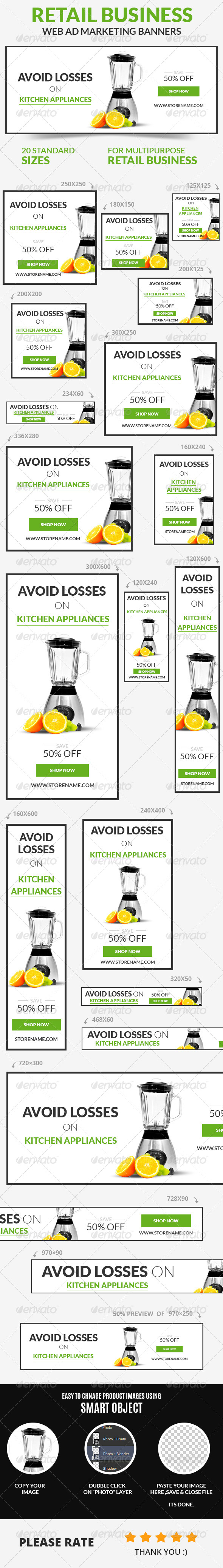 GraphicRiver Retail Business Web Ad Marketing Banners 7401293