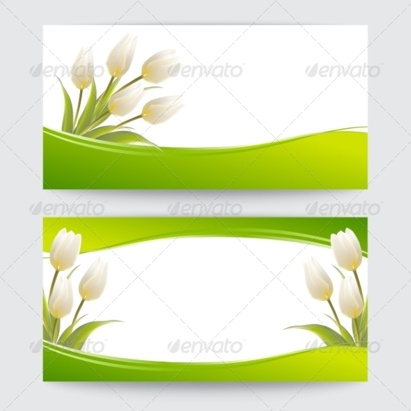 GraphicRiver Tulip Spring Flowers Bouquet Banners 7401414