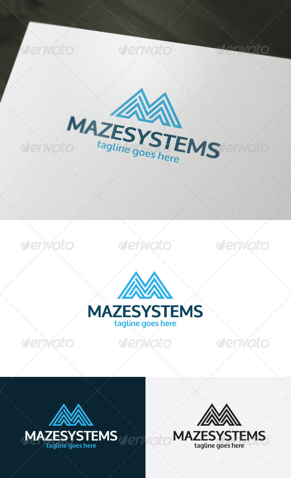 GraphicRiver Maze Systems Logo Letter M 7401455