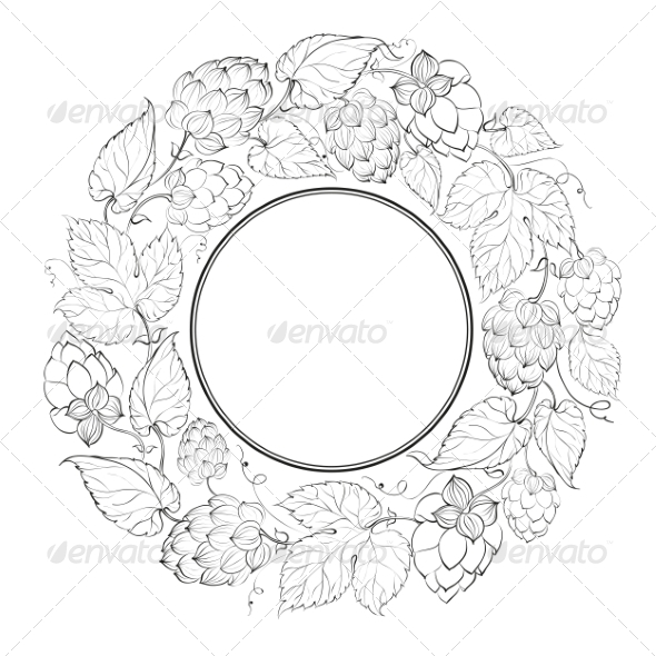 GraphicRiver Black Circle of Fruit Hops 7401467