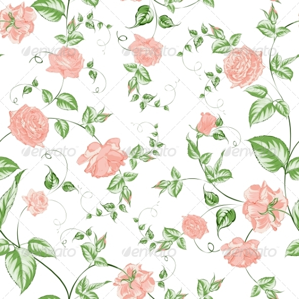 GraphicRiver Seamless Texture of Roses for Textiles 7401472