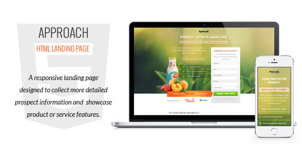 ThemeForest Approach HTML Landing Page 7401489