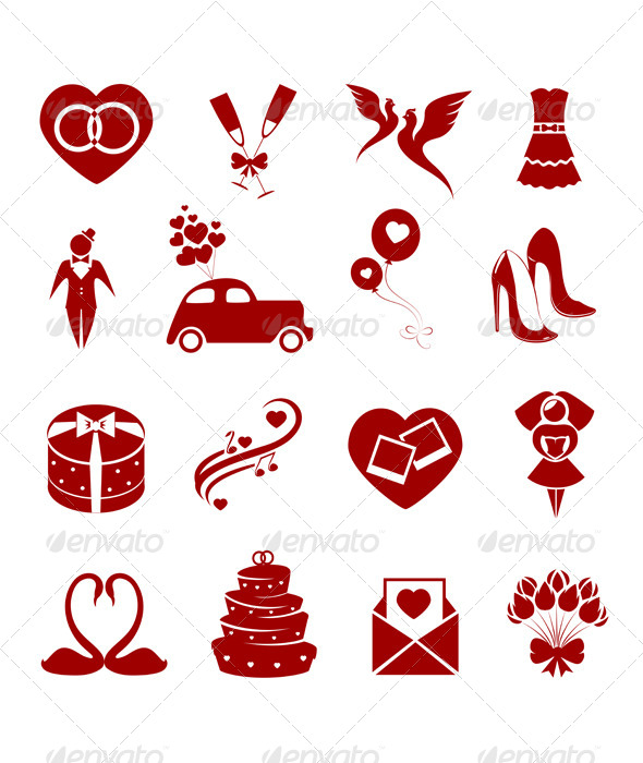 GraphicRiver Wedding Icons 7401496