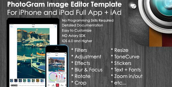 CodeCanyon PhotoGram Image Editor iOS Template & iAd 7262183