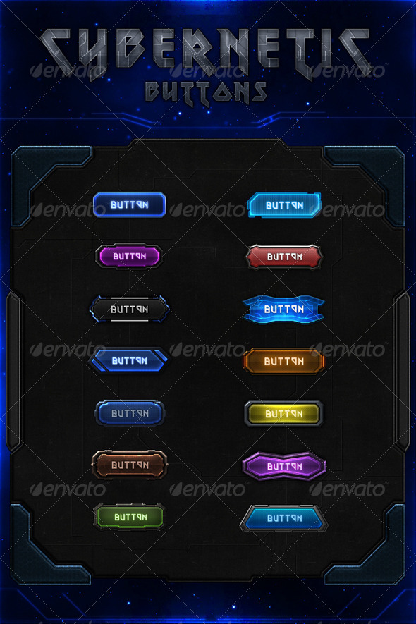 GraphicRiver Cybernetic Buttons 7401737