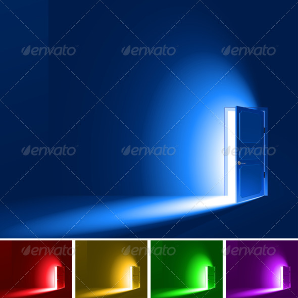 GraphicRiver Light Through a Door 7401739