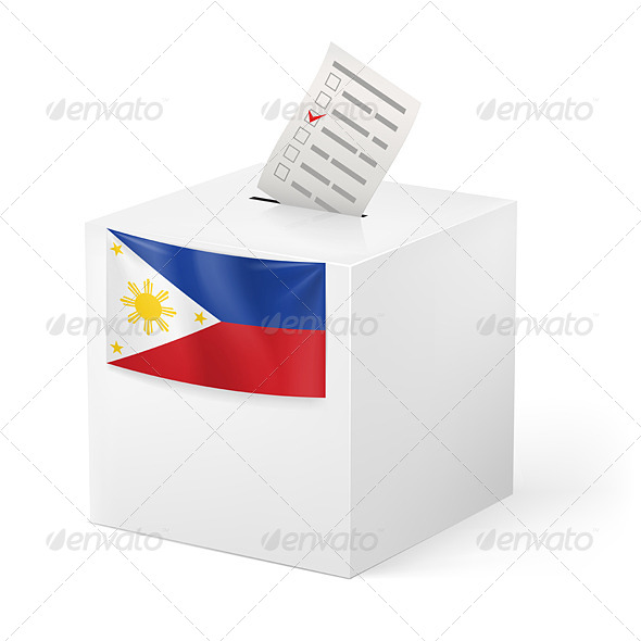 GraphicRiver Ballot Box with Voting Paper Philippines 7402445