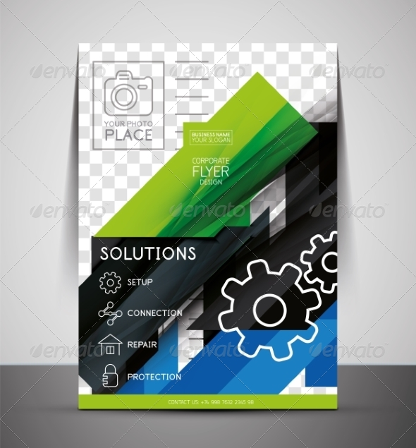 GraphicRiver CMYK Business Corporate Flyer Template 7402513