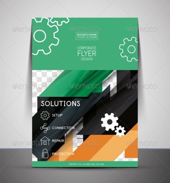 GraphicRiver CMYK Business Corporate Flyer Template 7402514