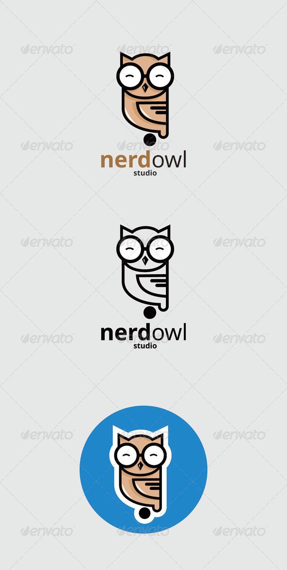 GraphicRiver Nerd Owl logo 7402606