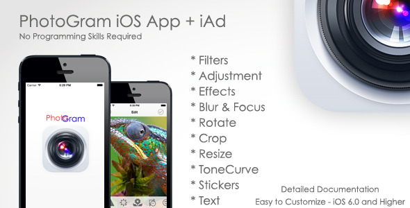 CodeCanyon PhotoGram Image Editor for iPhone & iAd 7364444
