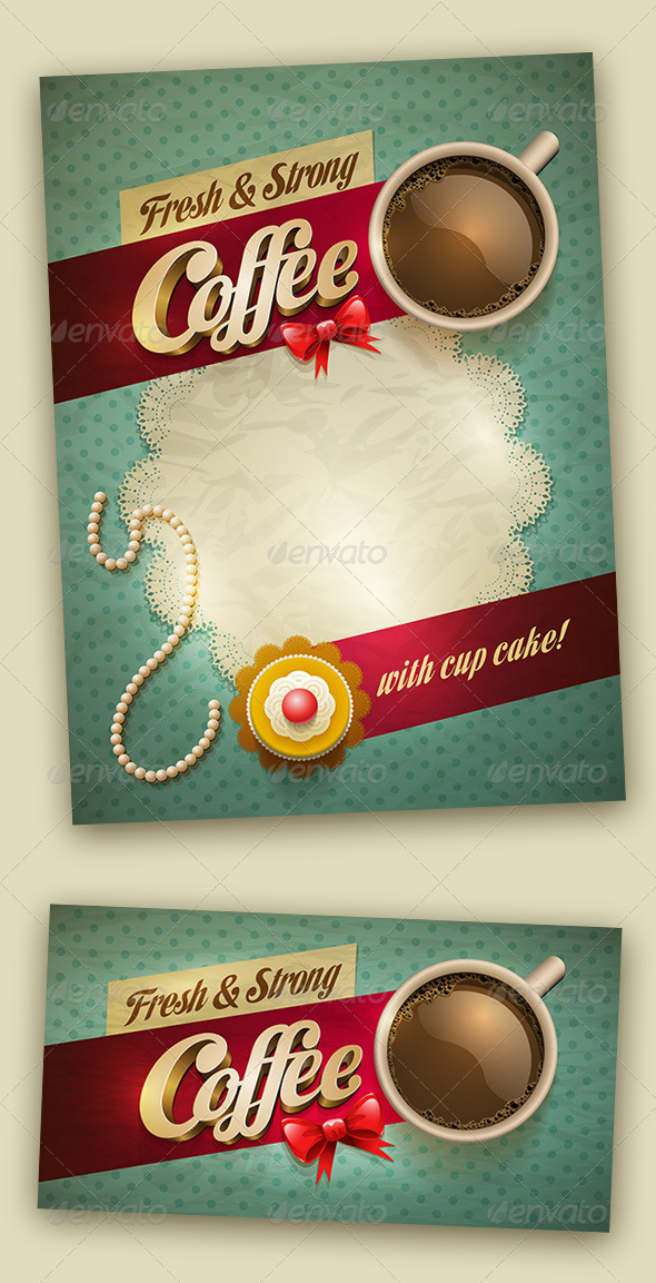 GraphicRiver Coffee and Cake Design Template 7402708