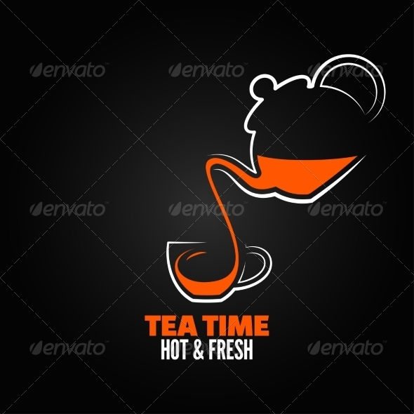GraphicRiver Tea Cup Design Menu Backgraund 7402945