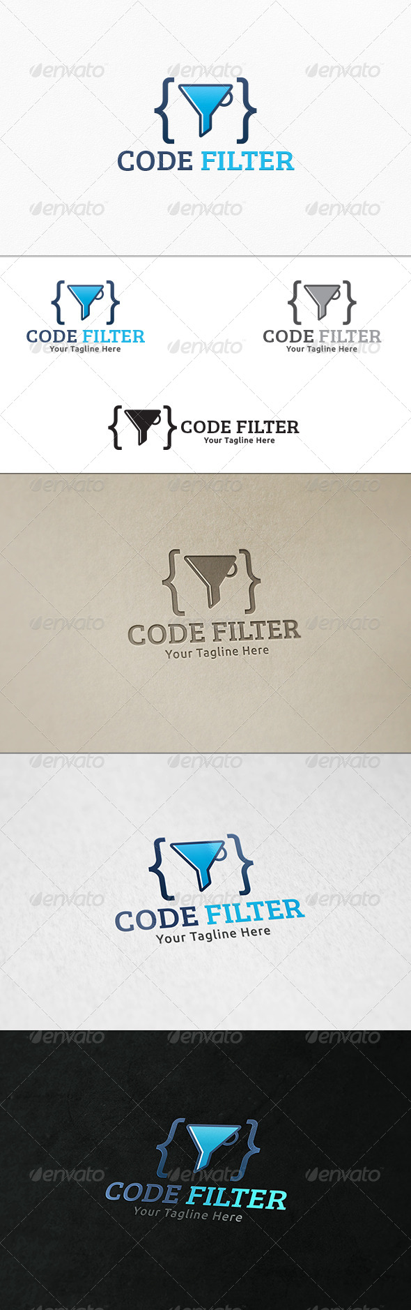 GraphicRiver Code Filter Logo Template 7402959